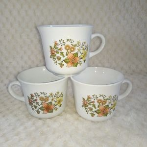 5 Corning Corelle Spring Meadow flowers coffee cup